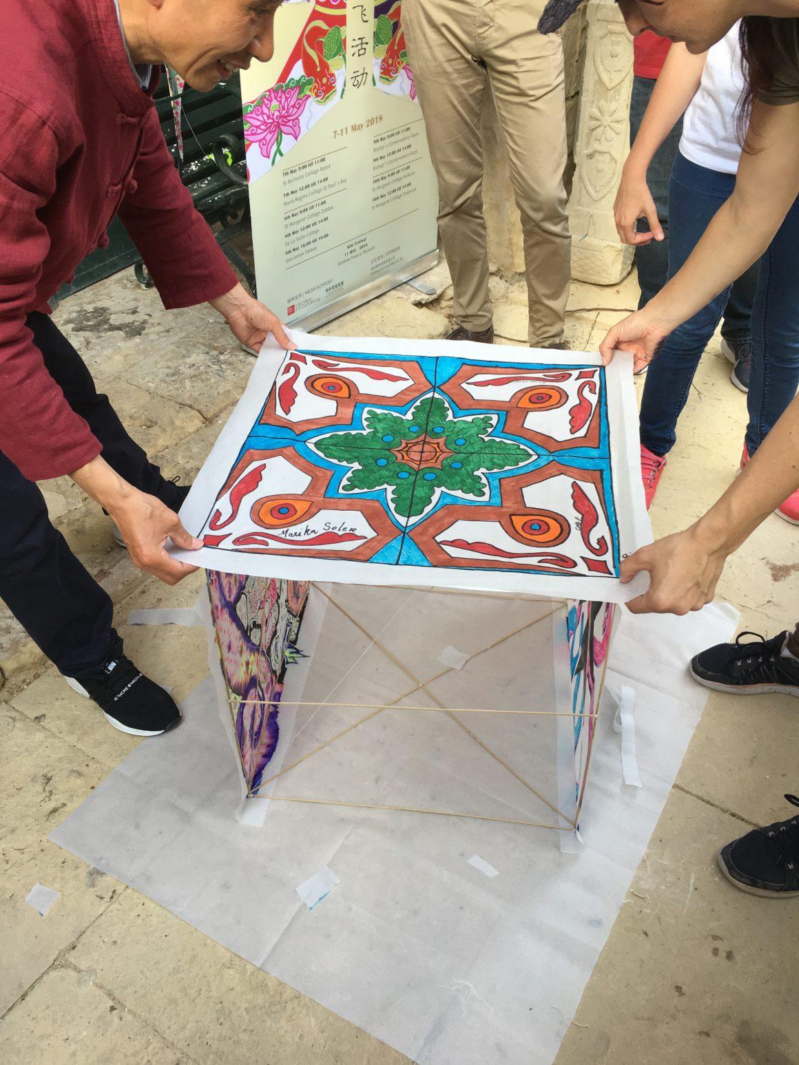 An Afternoon of Kite Making at San Anton Palace