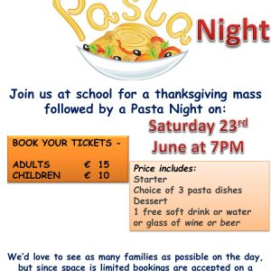 Thanksgiving Mass and Pasta Night